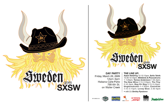 Sweden Goes SXSW Logo and T-Shirt